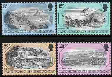 Guernsey 1982 Old Guernsey Prints (2nd series) set of 4 unmounted mint, SG 249-52