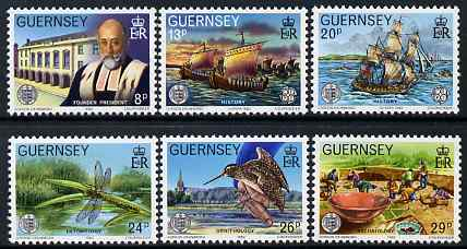 Guernsey 1982 Centenary of La Societe Guernesiaise set of 6 unmounted mint, SG 253-58