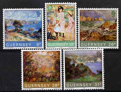 Guernsey 1983 Centenary of Renoir's visit to Guernsey set of 5 unmounted mint, SG 277-81