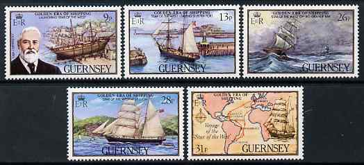 Guernsey 1983 Guernsey Shipping (1st series) set of 5 unmounted mint, SG 282-86