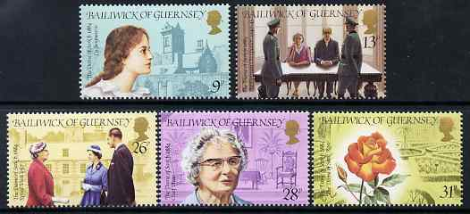 Guernsey 1984 Birth Centenary of Sibyl Hathaway, Dame of Sark set of 5 unmounted mint, SG 287-91