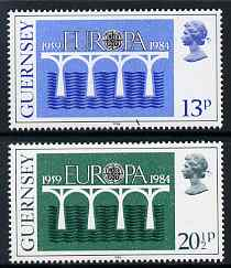 Guernsey 1984 Europa set of 2 unmounted mint, SG 292-93