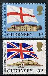 Guernsey 1984 Links with the Commonwealth set of 2 unmounted mint, SG 292-93