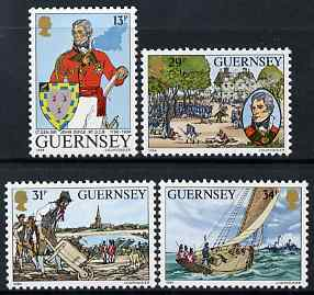 Guernsey 1984 150th Death Anniversary of Lt-General Sir John Doyle set of 4 unmounted mint, SG 328-31