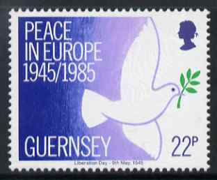Guernsey 1985 40th Anniversary of Peace in Europe 22p unmounted mint, SG 337