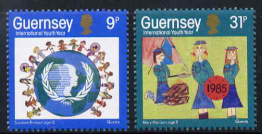 Guernsey 1985 International Youth Year set of 2 unmounted mint, SG 338-39