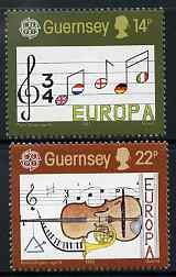 Guernsey 1985 Europa - European Music Year set of 2 unmounted mint, SG 340-41