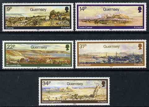 Guernsey 1985 Paintings by Paul Jacob Maftel set of 5 unmounted mint, SG 355-59
