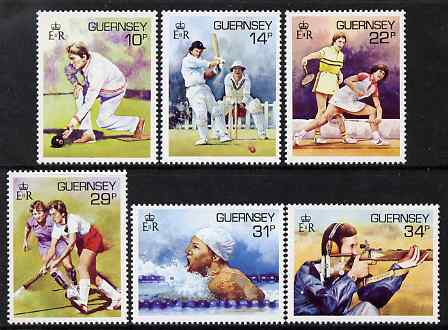 Guernsey 1986 Sport in Guernsey set of 6 unmounted mint, SG 371-76
