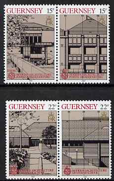 Guernsey 1987 Europa - Modern Architecture set of 4 unmounted mint, SG 394-97