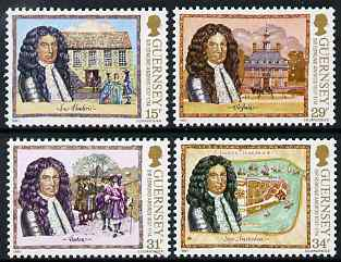 Guernsey 1987 350th Birth Anniversary of Sir Edmund Andros set of 4 unmounted mint, SG 400-403