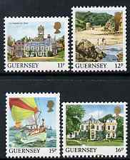 Guernsey 1987 Coil Stamp set of 4 unmounted mint, SG 398-99a