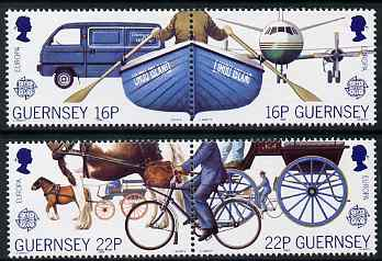 Guernsey 1988 Europa - Transport & Communications set of 4 unmounted mint, SG 420-23