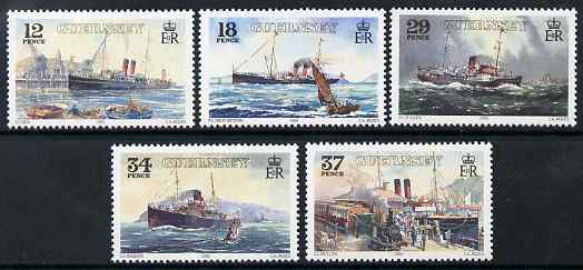Guernsey 1989 Centenary of Great Western Railway Service to Channel Islands set of 5 unmounted mint, SG 463-67