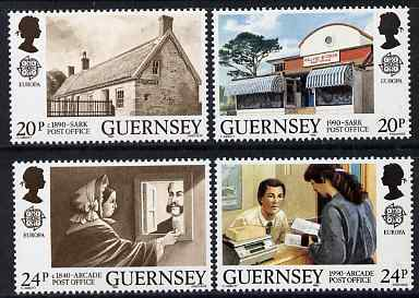 Guernsey 1990 Europa - Post Office Buildings set of 4 unmounted mint, SG 486-89