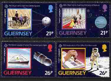 Guernsey 1991 Europa - Space set of 4 unmounted mint, SG 520-523