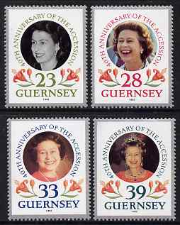 Guernsey 1992 40th Anniversary of Acession set of 4 unmounted mint, SG 552-55