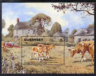 Guernsey 1992 150th Anniversary of Royal Guernsey Agricultural & Horticultural Society perf m/sheet unmounted mint, SG MS 561
