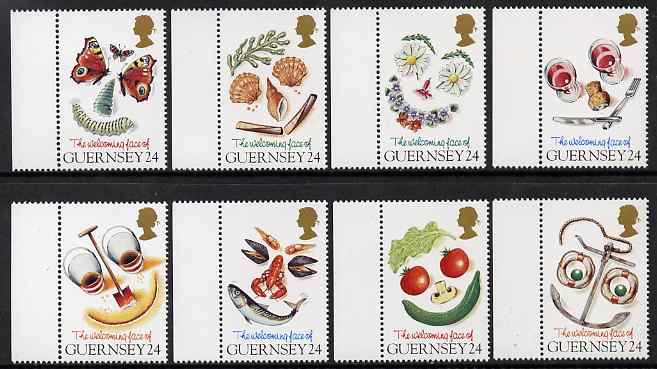 Guernsey 1995 The Welcoming Face of Guernsey set of 8 unmounted mint, SG 663-70