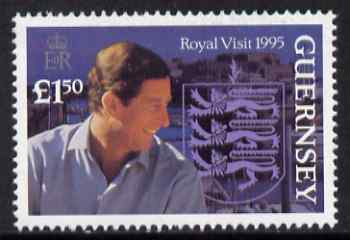 Guernsey 1995 Royal Visit �1.50 (Prince Charles) unmounted mint, SG 680