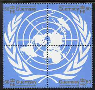 Guernsey 1995 50th Anniversary of United Nations set of 4 unmounted mint, SG 682-85