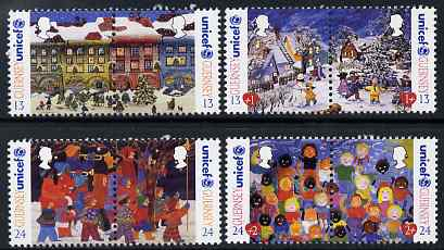 Guernsey 1995 Christmas - 50th Anniversary of UNICEF set of 8 unmounted mint, SG 686-93