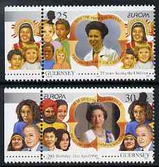 Guernsey 1996 Europa - Famous Women set of 2 unmounted mint, SG 694-95