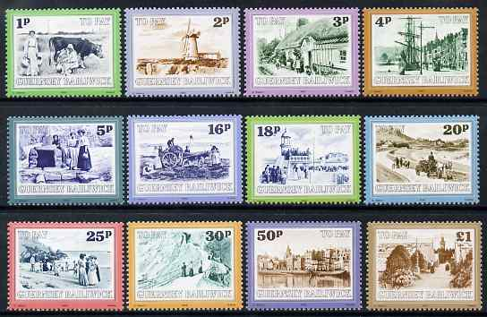Guernsey 1982 Postage Due set of 12 Guernsey Scenes unmounted mint, SG D30-41