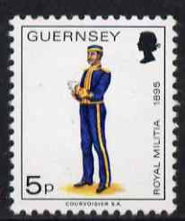 Guernsey 1974-78 Field Officer, Royal Guernsey Artillery 5p from Militia Uniforms def set unmounted mint, SG 105a