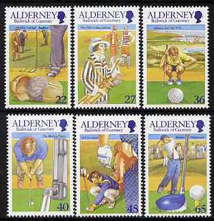 Guernsey - Alderney 2001 30th Anniversary of Alderney Golf Club set of 6 unmounted mint, SG A169-74