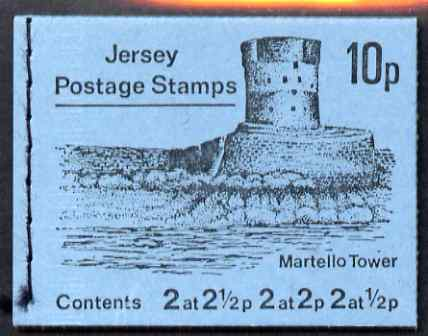 Booklet - Jersey 1971 Views 10p (Martello Tower) booklet complete each stamp with wide margin at top, SG B4a