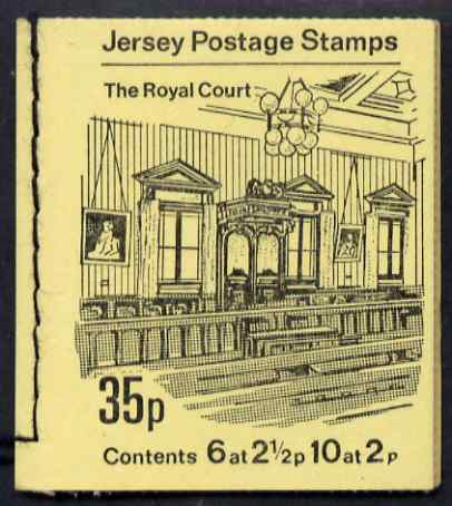Booklet - Jersey 1971 Views 35p (The Royal Court) booklet complete, SG B5, stamps on tourism