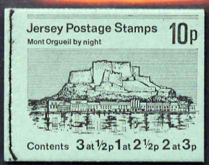 Booklet - Jersey 1973 Views 10p (Mont Orgueil by Night) booklet complete, SG B11