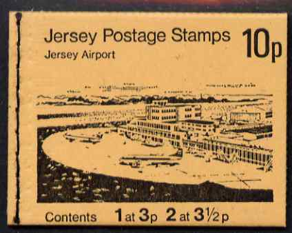 Booklet - Jersey 1974 Views 10p (Jersey Airport) booklet complete, SG B18