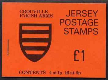 Booklet - Jersey 1978 Parish Arms (Grouville) �1 booklet complete, SG B27