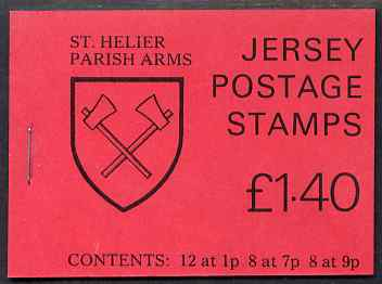 Booklet - Jersey 1980 Parish Arms (St Helier) �1.40 booklet complete, SG B30