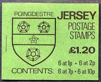 Booklet - Jersey 1981 Parish Arms (Poingdestre) �1.20 booklet complete, SG B32