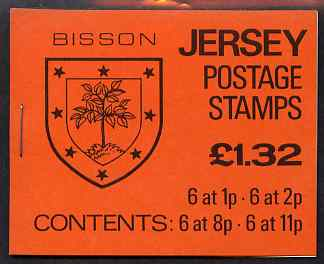 Booklet - Jersey 1983 Parish Arms (Bisson) �1.32 booklet complete, SG B34