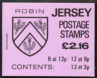 Booklet - Jersey 1984 Parish Arms (Robin) \A32.16 booklet complete, SG B35