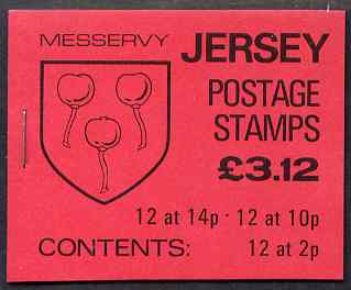 Booklet - Jersey 1986 Parish Arms (Messervy) \A33.12 booklet complete, SG B37