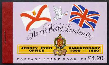 Booklet - Jersey 1990 Stamp World 1990 Stamp Exhibition prestige �4.20 booklet complete, SG B42