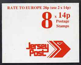 Booklet - Jersey 1992 Jersey Post �1.12 booklet complete, SG B45