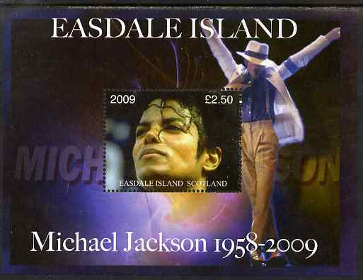 Easdale 2009 Michael Jackson perf m/sheet unmounted mint