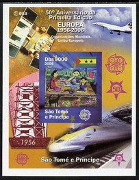 St Thomas & Prince Islands 2006 50th Anniversary of First Europa Stamp imperf souvenir sheet #1 Painting of Picnic unmounted mint. Note this item is privately produced and is offered purely on its thematic appeal