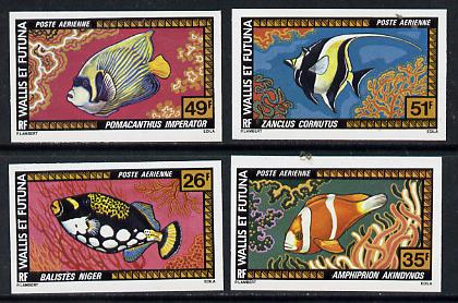 Wallis & Futuna 1977 Fish imperf set of 4 from limited printing unmounted mint, SG 278-81