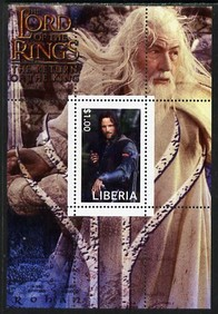 Liberia 2003 Lord of the Rings #1 perf s/sheet unmounted mint