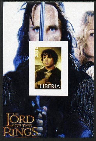 Liberia 2003 Lord of the Rings #2 imperf s/sheet unmounted mint