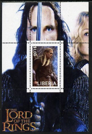 Liberia 2003 Lord of the Rings #4 perf s/sheet unmounted mint