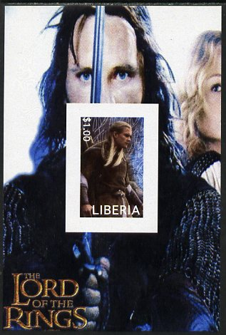 Liberia 2003 Lord of the Rings #4 imperf s/sheet unmounted mint