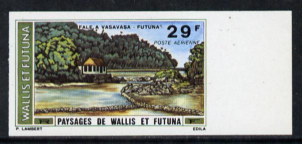 Wallis & Futuna 1976 Landscapes 29f (Vasavasa) imperf proof from limited printing unmounted mint, SG 250*